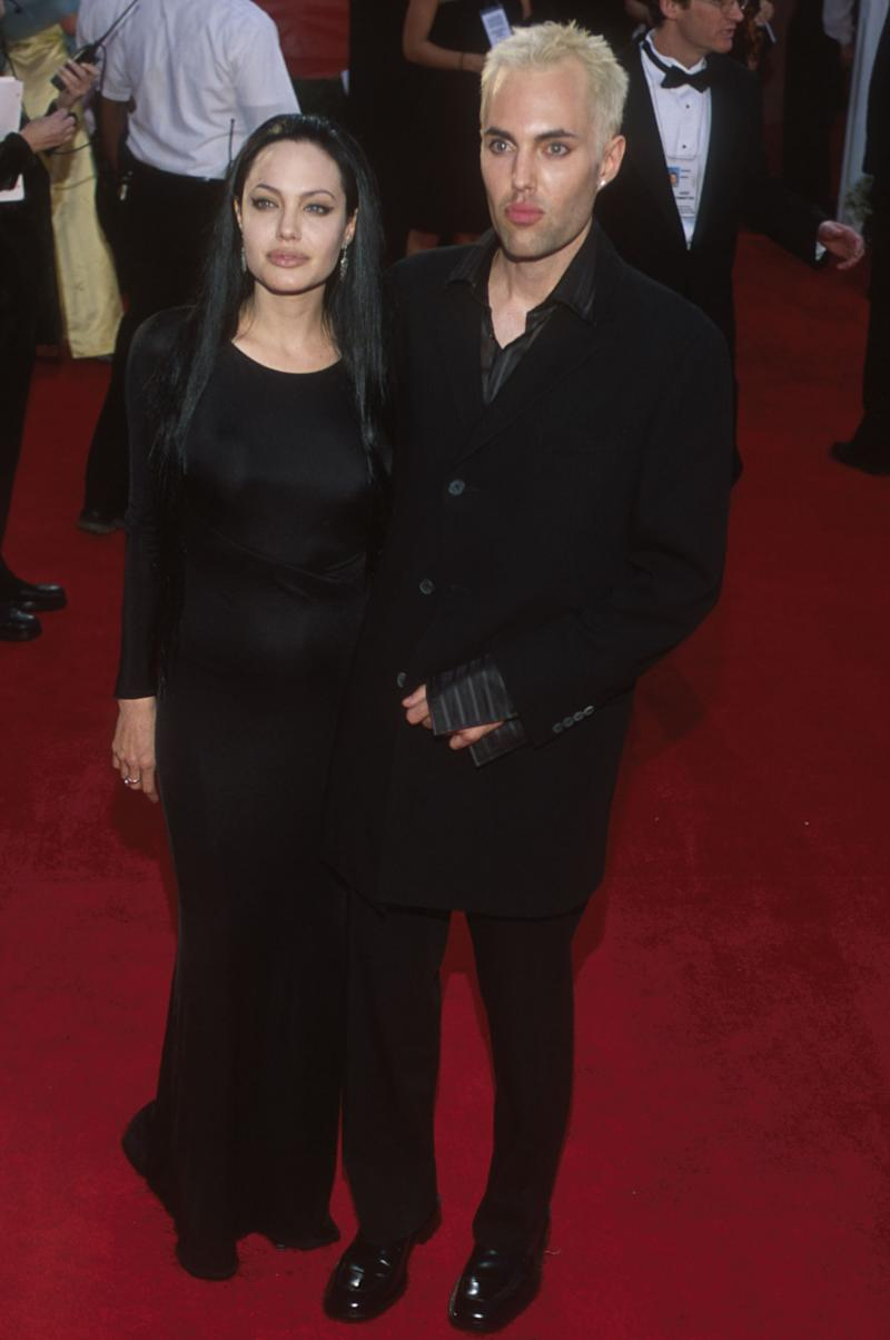 Angelina Jolie With Her Brother James Haven At The 72Nd Annual Academy Awards.