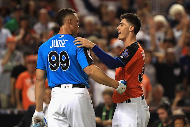 Cody Bellinger and Aaron Judge will both receive 1000 percent raises in arbitration. (Photo by Mike Ehrmann/Getty Images)