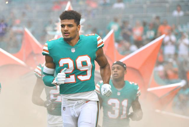 The Dolphins used their first-round draft pick on Alabama's Minkah Fitzpatrick, who has had a solid rookie season. (Getty Images)