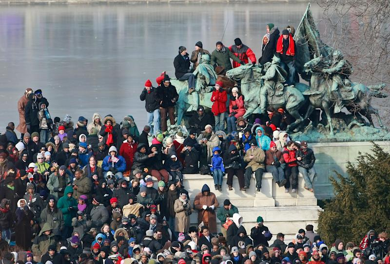 Big crowd, but not a record, seen for inauguration