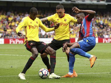 Wilfried Zaha was involved in a fresh diving storm after the Crystal Palace star was booked for simulation in Saturday's 0-0 draw at Watford.