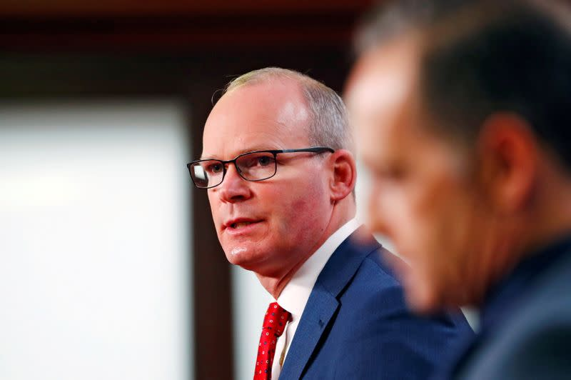 FILE PHOTO: Irish FM Coveney and his German counterpart Maas attend news conference in Berlin