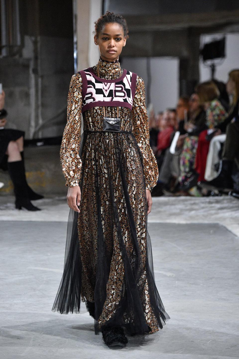 <p>Angolan model Blesnya Minher catapulted into stardom when she appeared alongside Christy Turlington and Lya Kebede in Valentino's spring/summer 2017 campaign. Since then, she has proven herself a promising newcomer, walking on the runways of Miu Miu, Kenzo, and Christian Dior.</p>