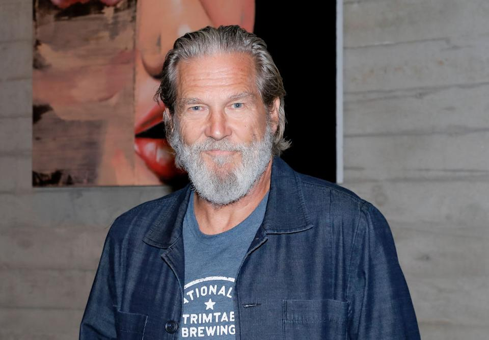 Jeff Bridges has revealed he has been diagnosed with lymphoma, pictured in October 2019. (Getty Images)