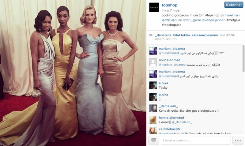 Topshop to auction its Met Ball dresses