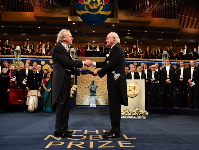 Peter Handke receives the Nobel Literature Prize from King Carl Gustaf