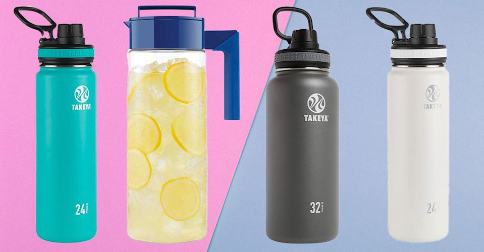Takeya water bottles and pitchers are fan favorites on Amazon. (Photo: Amazon)