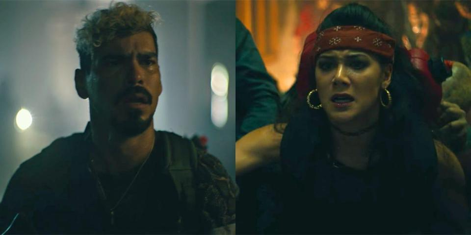 Guzman, Chambers say their silent goodbyes in Army of the Dead before Chambers is eaten by zombies