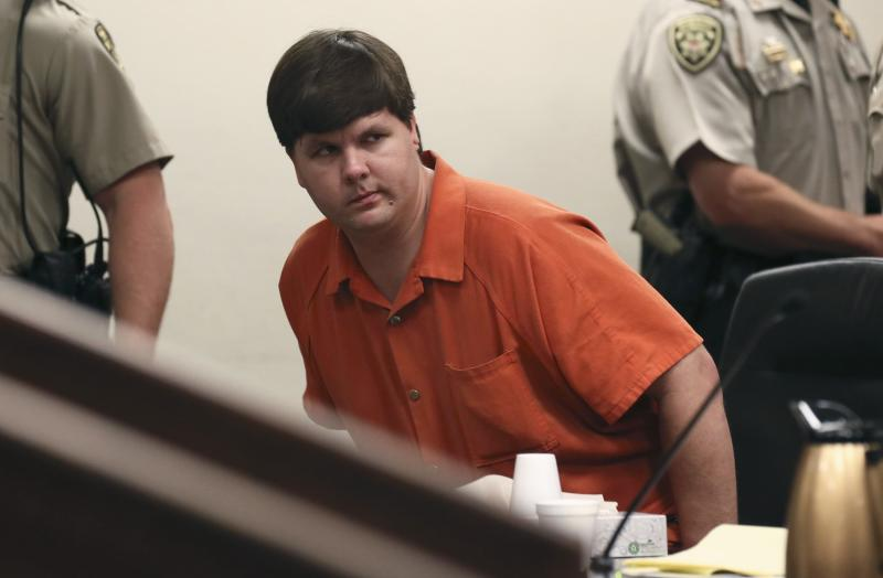 Justin Ross Harris looks on at the Cobb County Magistrate Court in Marietta, Georgia