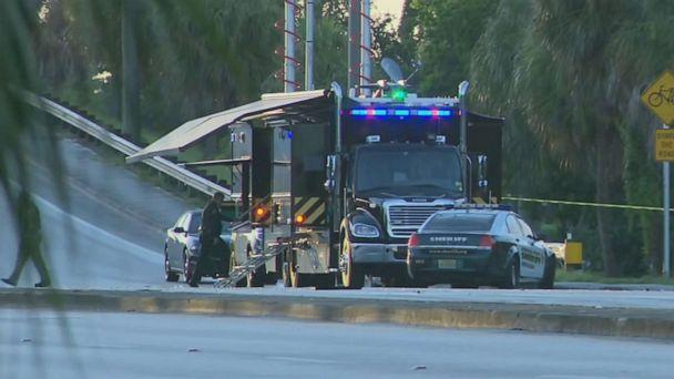 PHOTO: A Broward, Florida, sheriff's deputy was killed in a car crash while responding to a domestic dispute, July 21, 2019. (WPLG)