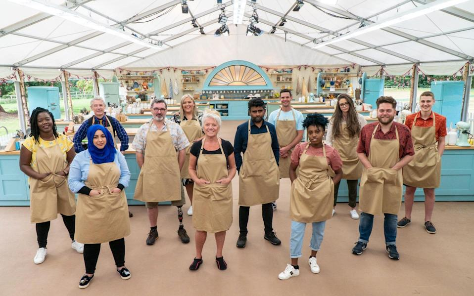 Back in the tent: contestants on The Great British Bake Off 2020 - C4/Love Productions/Mark Bourdillon