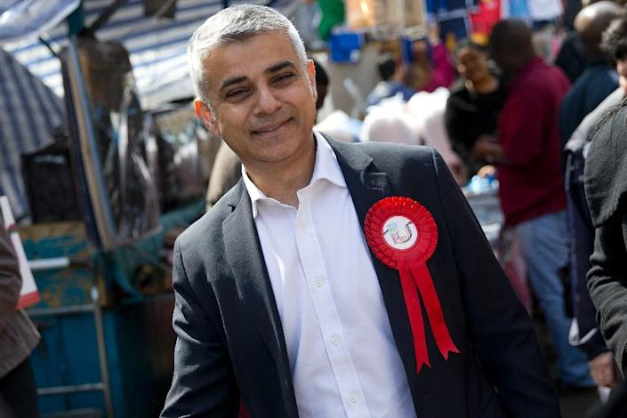 London's new mayor Sadiq Khan has gone from a public housing estate in the British capital to running the city, a remarkable rise for the Pakistani immigrant bus driver's son (AFP Photo/Justin Tallis)
