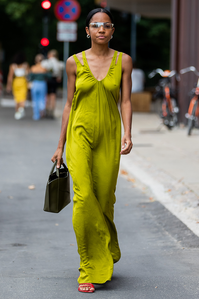 <p>Give your sleek maxi dresses a playful edge by switching out your subtle heels for a pair of contrasting strappy mules to set the look off.</p>