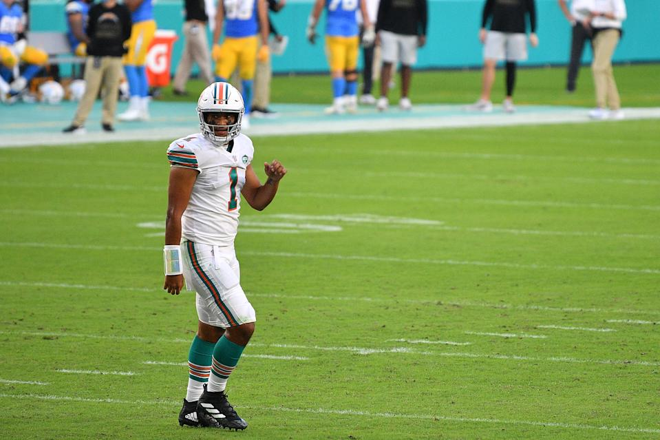 Tua Tagovailoa of the Miami Dolphins