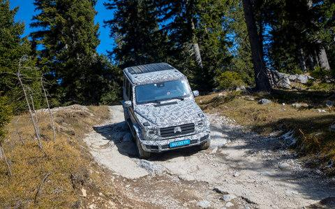 The Mercedes-Benz G-Class - also known as the G-Wagen - is seen testing in Austria - Credit: DaimlerAG - Global Communication