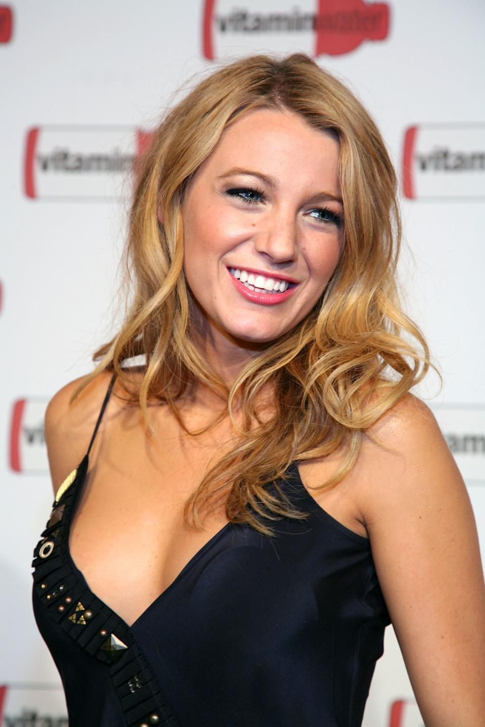 NEW YORK - JULY 14:  Actress Blake Lively attends Vitaminwater's MLB All-Star week celebration at Hudson Terrace on July 14, 2008 in New York City.  (Photo by Astrid Stawiarz/Getty Images)