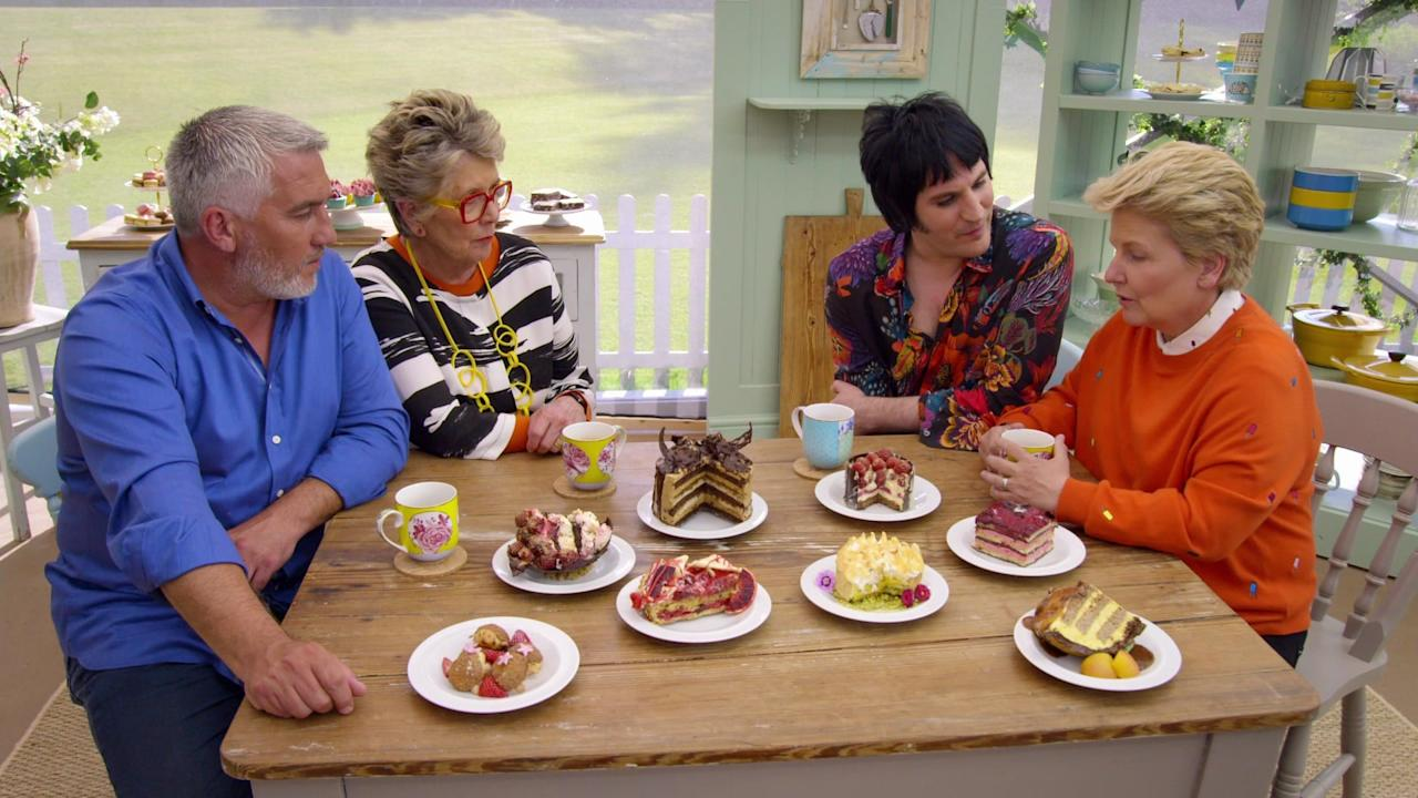 "<p>There are a few versions and collections of <b>Great British Baking Show</b> to choose from on Netflix, and we recommend them all. The combination of competition and heartfelt contestants will be the perfect easy watching for you.</p> <p><a href=""https://www.netflix.com/watch/80063076?trackId=13752289&amp;tctx=0%2C0%2Cfd0b7941-b6c9-4886-945f-2aa173b66c1a-69462587%2C8dbeab5d5ce783b6ce231db62c1eb60ab5cde2d8%3Ad58fc40962fba9c628de326b644b720654f12c90%2C%2C"" target=""_blank"" class=""ga-track"" data-ga-category=""Related"" data-ga-label=""https://www.netflix.com/watch/80063076?trackId=13752289&amp;tctx=0%2C0%2Cfd0b7941-b6c9-4886-945f-2aa173b66c1a-69462587%2C8dbeab5d5ce783b6ce231db62c1eb60ab5cde2d8%3Ad58fc40962fba9c628de326b644b720654f12c90%2C%2C"" data-ga-action=""In-Line Links"">Watch <b>Great British Baking Show</b> on Netflix</a>.</p>"
