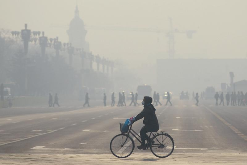 As many as 8.2 million deaths in 2012 could be blamed on air pollution, according to a report by the World Health Organization (AFP Photo/Wang Zhao)