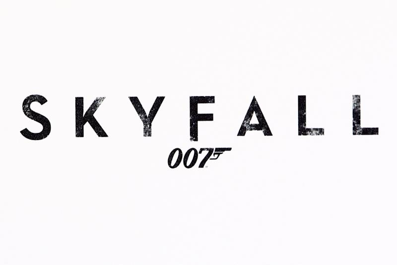 """LONDON, ENGLAND - NOVEMBER 03: The logo for the new bond film at a photocall with cast and filmmakers to mark the start of production which is due to commence on the 23rd Bond Film and announce the title of the film as """"Skyfall"""" at Massimo Restaurant & Oyster Bar on November 3, 2011 in London, United Kingdom. (Photo by Dave Hogan/Getty Images)"""