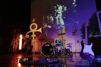"""The """"NPG Music Club"""" Room at Paisley Park, Prince's home and studio in Chanhassen, Minnesota"""