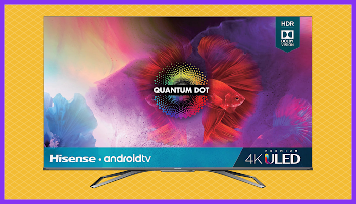 This Hisense 55-inch Class H9 Quantum Series 4K PremiumULED Android TV is the lowest price on the internet right now—save nearly 20 percent off. (Photo: QVC)