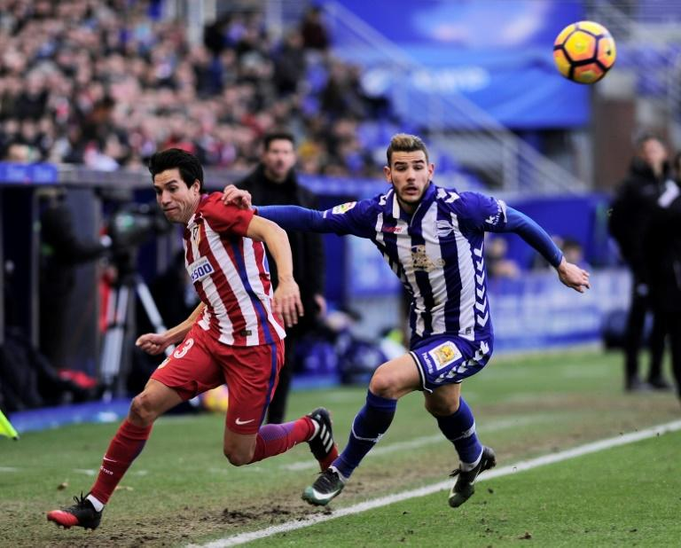 A sexual assault complaint case against Theo Hernandez (R), pictured during a Spanish league football match on January 28, 2017, was dismissed by a court in the southern city of Marbella