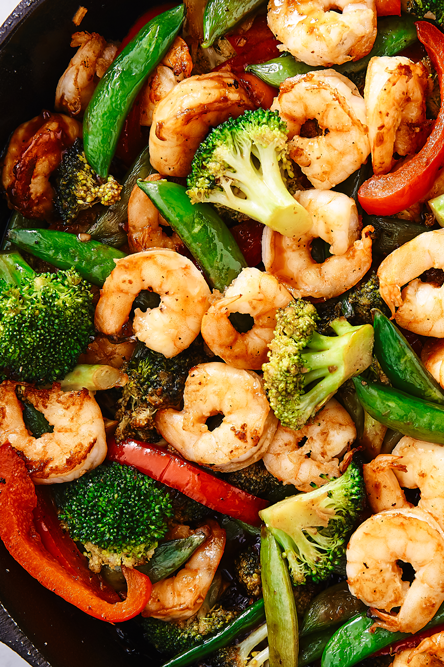 "<p>If no one would judge us, we would eat this stir fry every. single. night. It's so simple to throw together yet full of so much flavour. Use whatever vegetable you like or make it a <a href=""http://www.delish.com/uk/chicken-recipes/"" rel=""nofollow noopener"" target=""_blank"" data-ylk=""slk:chicken"" class=""link rapid-noclick-resp"">chicken</a> stir fry if you'd rather. It's perfectly customisable!</p><p>Get the <a href=""https://www.delish.com/uk/cooking/recipes/a28757385/shrimp-stir-fry-recipe/"" rel=""nofollow noopener"" target=""_blank"" data-ylk=""slk:Prawn Stir Fry"" class=""link rapid-noclick-resp"">Prawn Stir Fry</a> recipe.</p>"