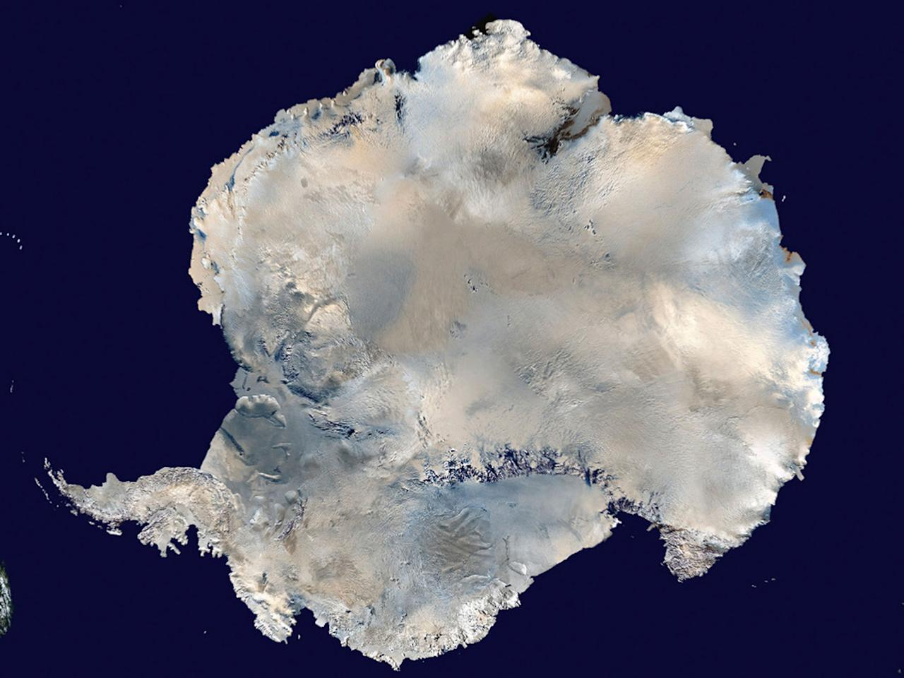 <p>A undated satellite view of Antarctica obtained by Reuters February 6, 2012. (Photo: NASA/Handout via Reuters) </p>