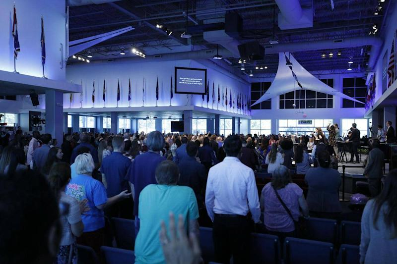 The church's services are frequently livestreamed: River at Tampa Bay Church