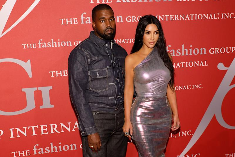 NEW YORK, NEW YORK - OCTOBER 24: Kanye West and Kim Kardashian West attend Fashion Group International's 2019 Night of Stars at Cipriani Wall Street on October 24, 2019 in New York City. (Photo by Taylor Hill/WireImage)