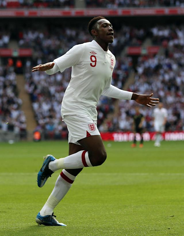 LONDON, ENGLAND - JUNE 02: Danny Welbeck of England celebrates after scoring the first goal of the match during the international friendly match between England and Belgium at Wembley Stadium on June 2, 2012 in London, England. (Photo by Ian Walton/Getty Images)