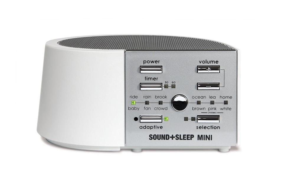 <p>Never underestimate the power of a good night's sleep! If she's been tired lately, get her the <span>Sound+Sleep Mini</span> ($70), which provides ambient and white noise at night to help her get past those sirens and honking horns and back to dreamland.</p>