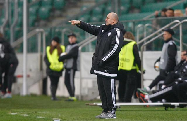 Since taking over as Russia coach there are only glimmers to suggest Stanislav Cherchesov, who won the Polish league with Legia Warsaw, will be able to lift Russia (AFP Photo/PIOTR NOWAK)