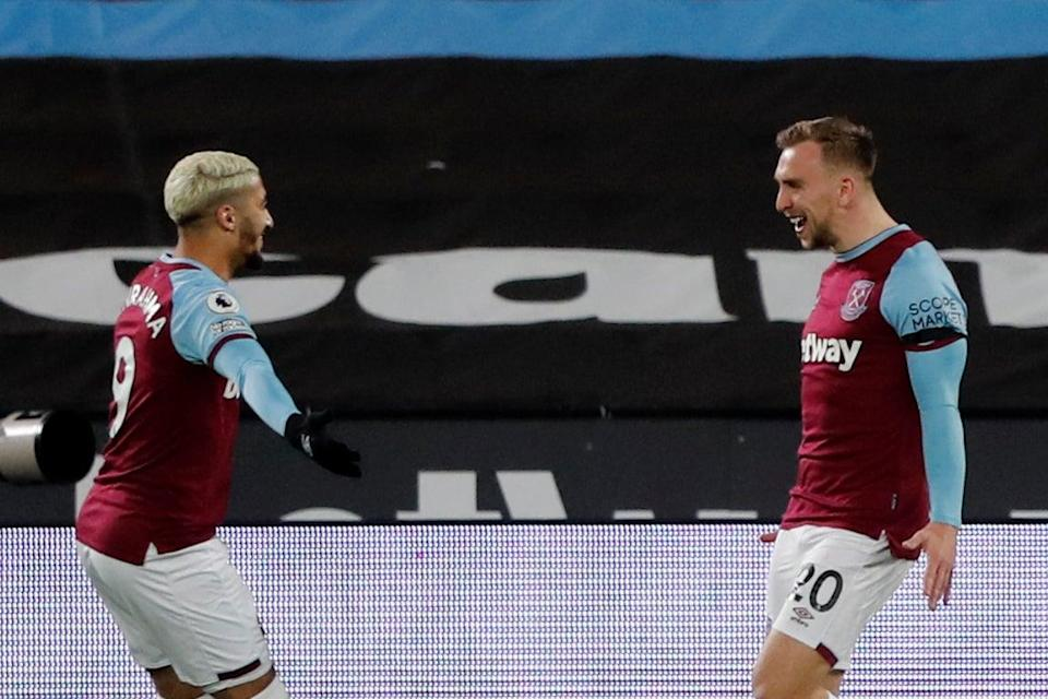 <p>Said Benrahma and Jarrod Bowen linked up to brilliant effect for West Ham on Monday night</p> (Getty Images)