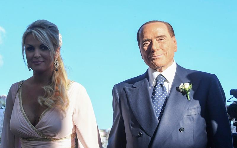 Silvio Berlusconi and Francesca Pascale in 2013 - Salvatore Laporta/KONTROLAB /LightRocket via Getty Images