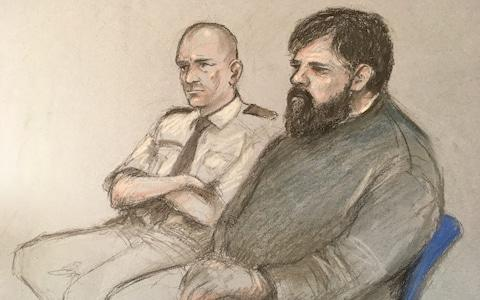 A court sketch of Carl Beech - Credit: PA