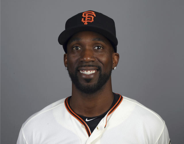 FILE - This is a 2018 file photo showing Andrew McCutchen of the San Francisco Giants baseball team. The playoff-contending New York Yankees are close to completing a trade for San Francisco Giants outfielder Andrew McCutchen. A person familiar with the negotiations told The Associated Press on Thursday night, Aug. 30, 2018, the Yankees would send infielder Abiatal Avelino and another minor leaguer to San Francisco for McCutchen. The person spoke on condition of anonymity because the deal wasn't finalized.(AP Photo/Ben Margot, File)