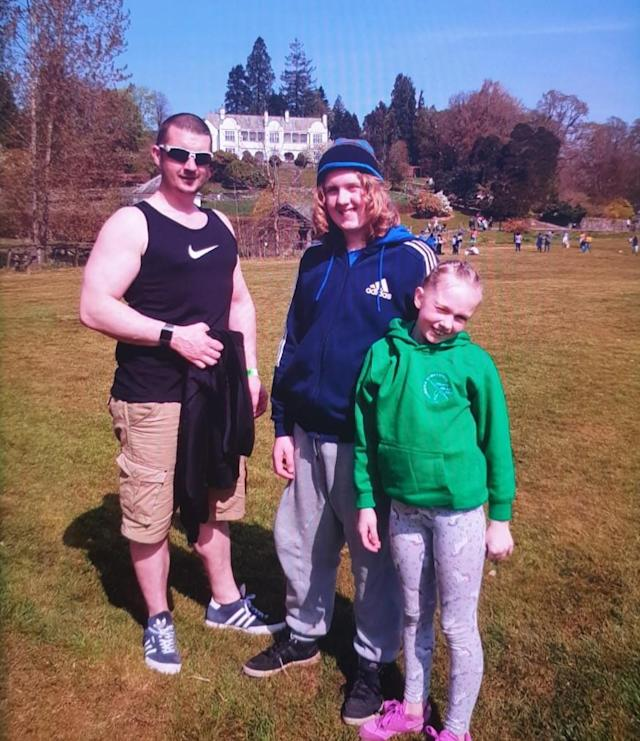 Joshua James Flynn aged 37, and his son Coby-Jay Flynn aged 15 and daughter Skylar Flynn aged 12 all from the local area. (Cumbria Police)