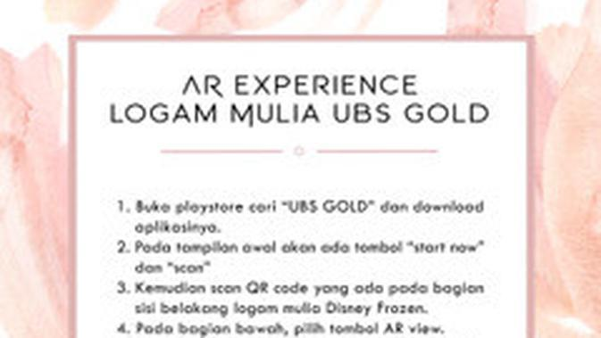 Augmented Reality Logam Mulia UBS Gold