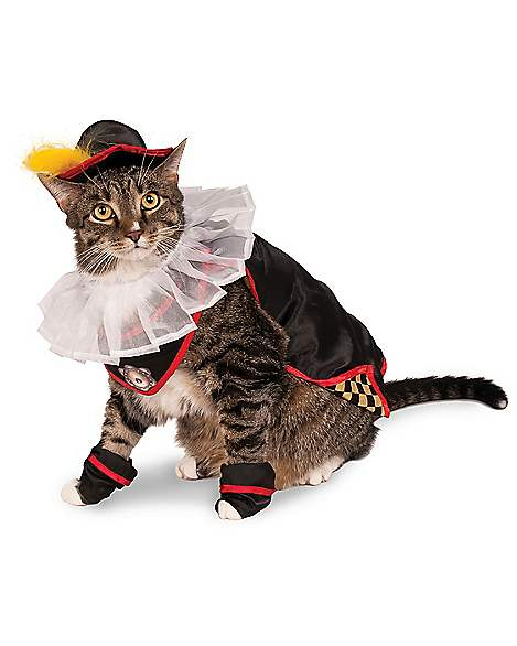 """<p>I hope you like my outfit for your last day on Earth, hooman.</p><br><br><strong>Spirit Halloween</strong> Aristocrat Cat Costume, $19.99, available at <a href=""""https://www.spirithalloween.com/product/aristocrat-cat-costume/135681.uts"""" rel=""""nofollow noopener"""" target=""""_blank"""" data-ylk=""""slk:Spirit Halloween"""" class=""""link rapid-noclick-resp"""">Spirit Halloween</a>"""