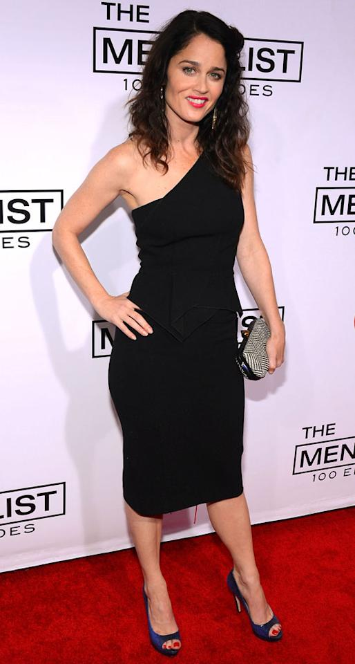 "Robin Tunney attends ""The Mentalist"" 100th episode celebration at The Edison on October 13, 2012 in Los Angeles, California."