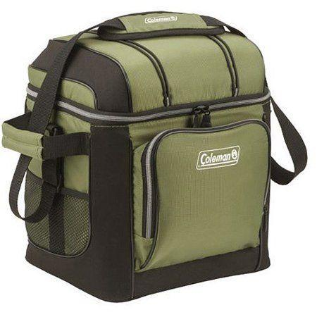 """<p><strong>Coleman</strong></p><p>amazon.com</p><p><strong>$31.73</strong></p><p><a href=""""https://www.amazon.com/Coleman-30-Can-Cooler-Green/dp/B006HFBF7E/?tag=syn-yahoo-20&ascsubtag=%5Bartid%7C10055.g.2137%5Bsrc%7Cyahoo-us"""" rel=""""nofollow noopener"""" target=""""_blank"""" data-ylk=""""slk:Shop Now"""" class=""""link rapid-noclick-resp"""">Shop Now</a></p><p>This soft-sided cooler costs less but still claims to keep your 30 cans cold for up to one day, perfect for beach days and day trips. The soft food-safe liner can be used with an ice pack, while ice can be added directly into the removable hard liner. <strong>The padded shoulder strap is wide, comfortable, and long enough to wear across your body.</strong> It has two side handles that make the cooler easier to carry when it is fully loaded. For extra storage, there is a zippered front pocket, two side mesh pockets, and two bungee straps on the top (perfect to strap your hat down).</p>"""