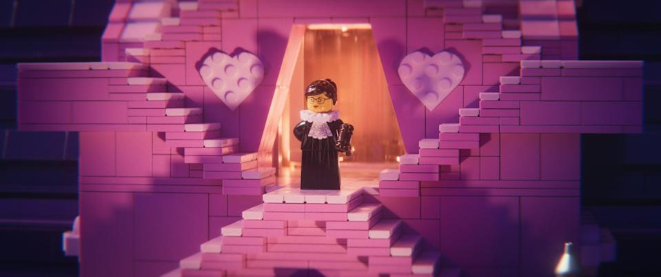 Supreme Court Justice Ruth Bader Ginsburg is a minifigure in <em>The Lego Movie 2. </em>(Photo: Warner Bros.)