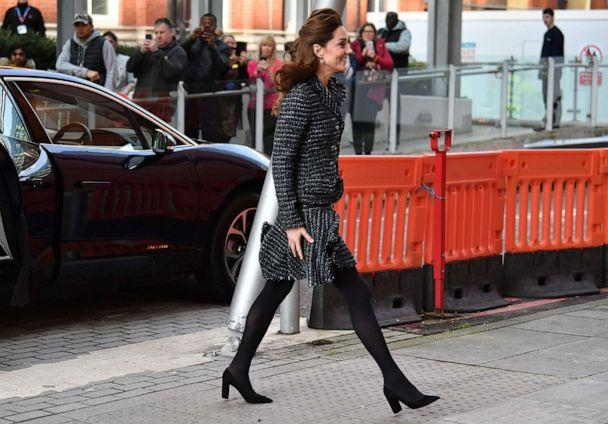 PHOTO: Britain's Catherine, Duchess of Cambridge, arrives at the Evelina London Childrens Hospital in London, Jan. 28, 2020 to join a creative workshop run by the National Portrait Gallerys Hospital Programme. (Ben Stansall/AFP via Getty Images)