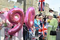 <p>The Queen celebrates her 90th birthday at Windsor.</p>