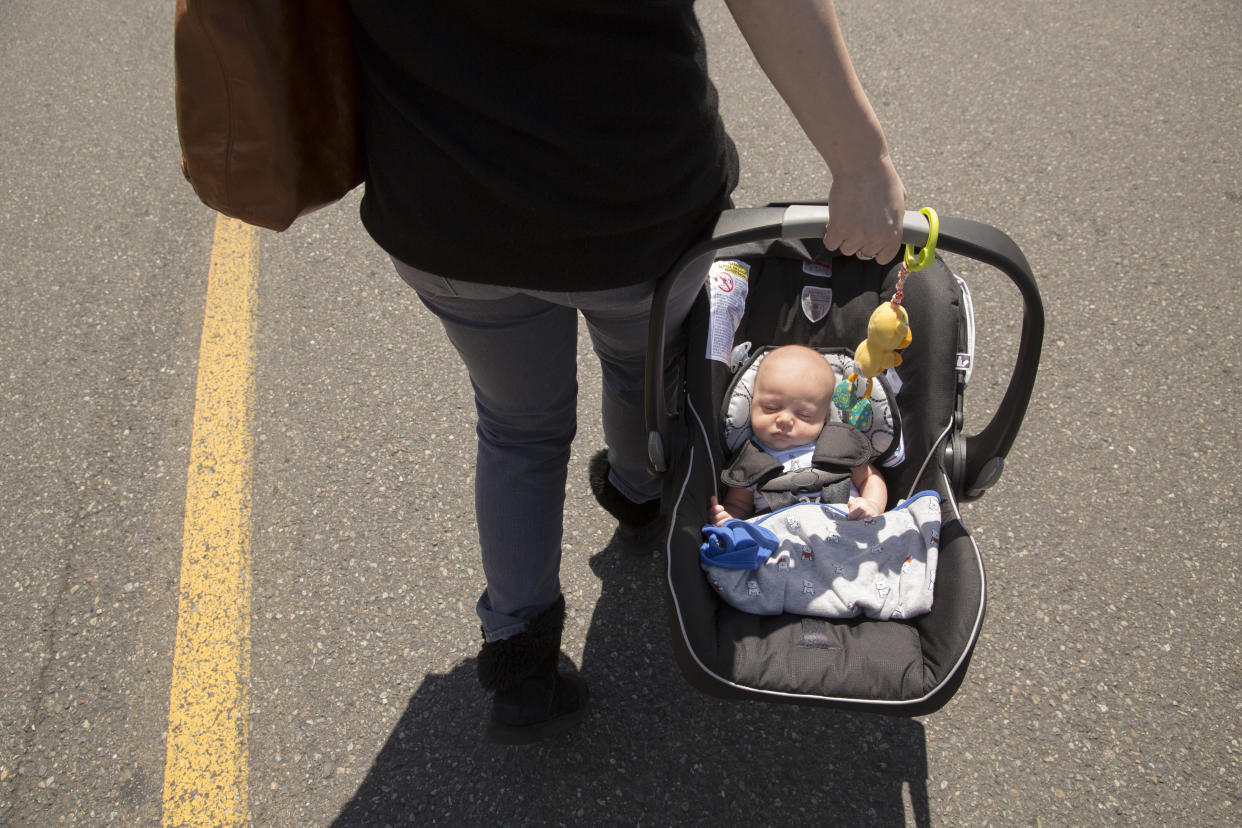 If babies are allowed to nap too long in car seats it can impact their breathing [Photo: Getty]