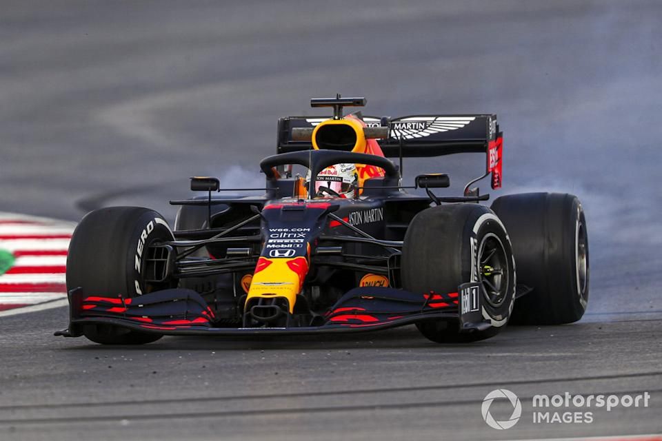 "Trompo de Max Verstappen, Red Bull Racing RB16<span class=""copyright"">Charles Coates / Motorsport Images</span>"