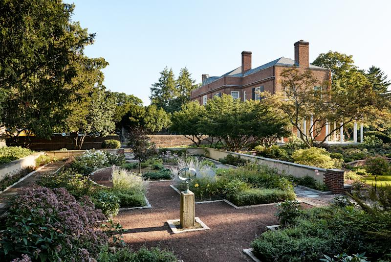 The property's Olmsted gardens.