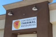 FILE PHOTO: A logo of lithium company Controlled Thermal Resources Ltd in Imperial