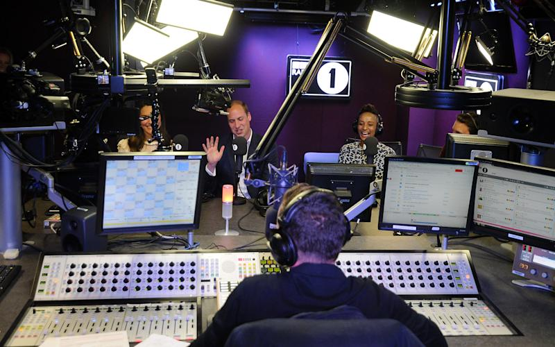 Scott Mills interviews the Royal couple along with DJ Adele, who is running the marathon - Credit: BBC